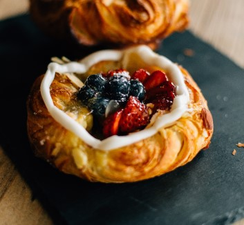 Pastry Cream Fruit Danish